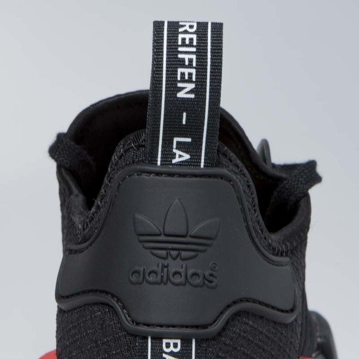 Sneakers buty Adidas Originals NMD_R1 core black lush red (B37618)