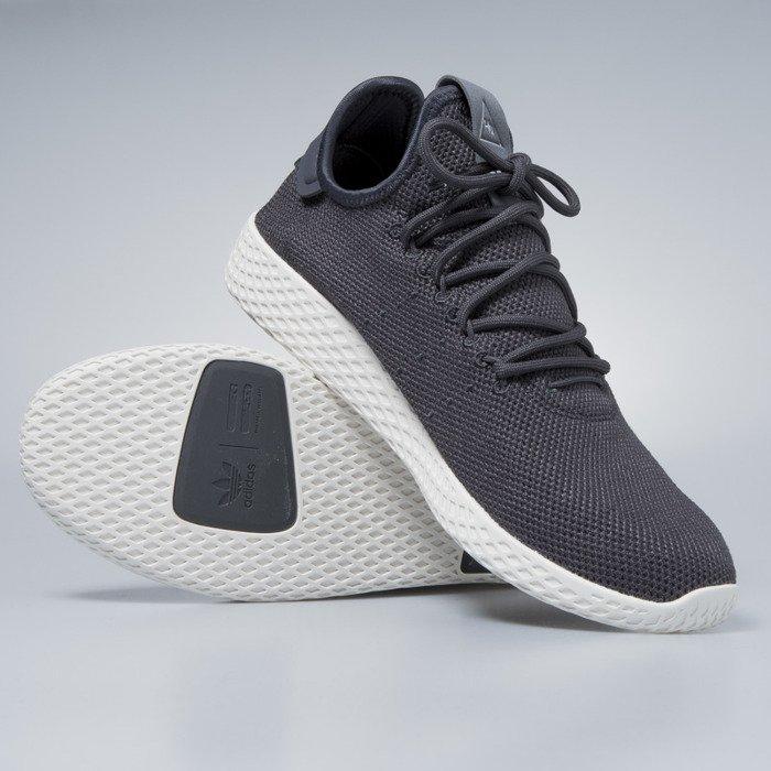 Sneakers buty Adidas Originals Pharrell Williams Tennis HU carbon carbon chalk white CQ2162