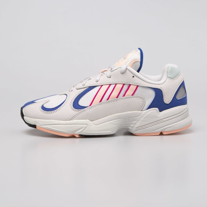 Sneakers buty Adidas Originals Yung 1 crystal white clear orange collegiate royal (BD7654)