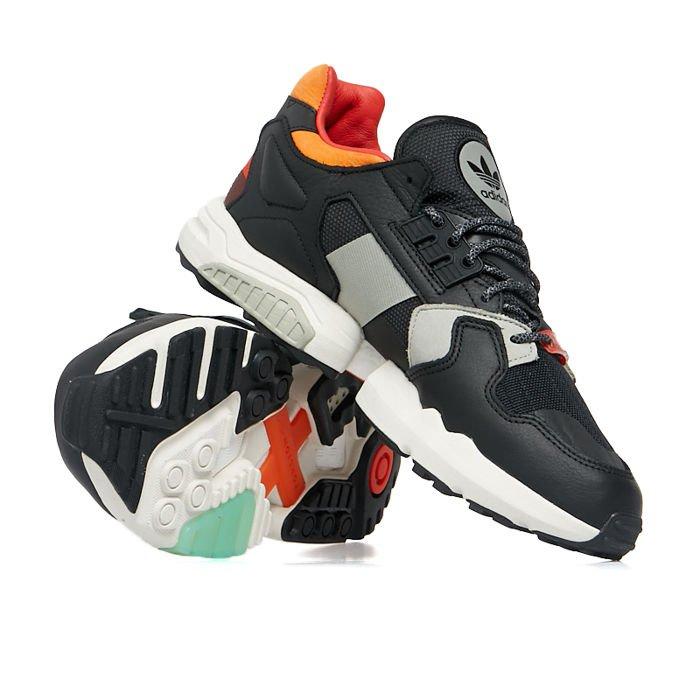 Sneakers buty Adidas Originals ZX Torsion core blackorangebold green (EE5553)