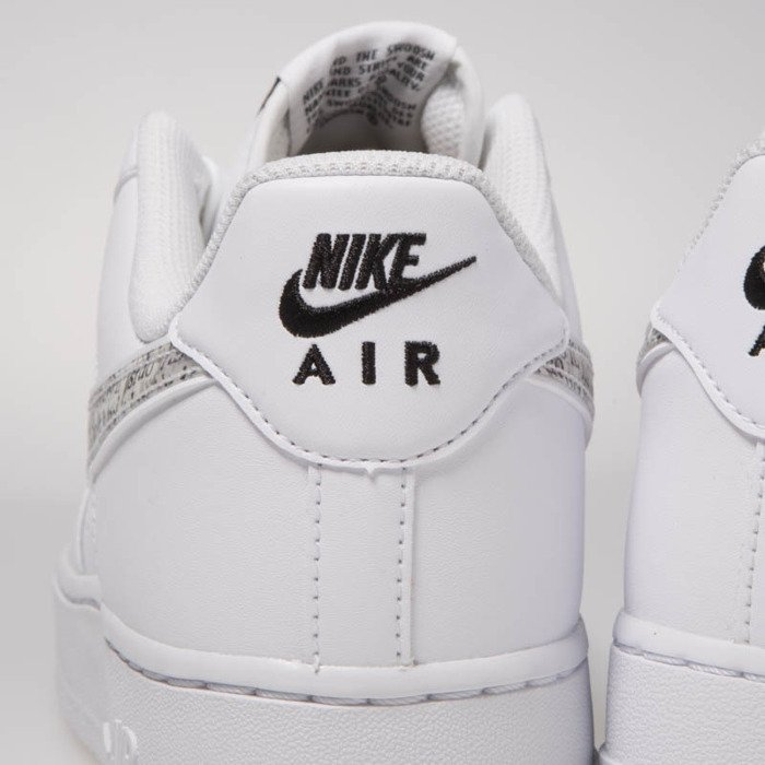 Sneakers buty Nike Air Force 1 '07 LV8 JDI LNTC whitewhite black total orange (BQ5361 100)