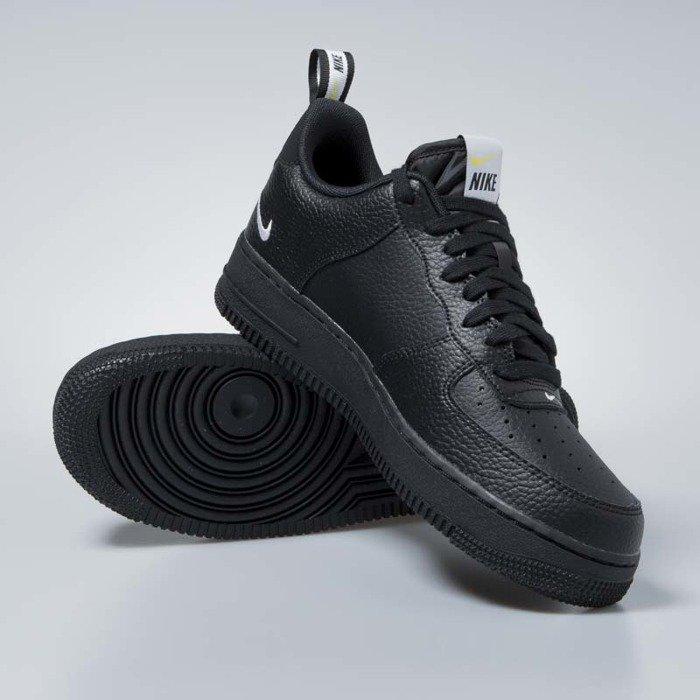 Sneakers buty Nike Air Force 1 '07 LV8 Untility black white black tour yellow (AJ7747 001)
