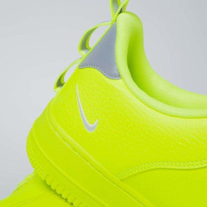 Sneakers buty Nike Air Force 1 '07 LV8 Untility volt white black wolf grey (AJ7747 700)