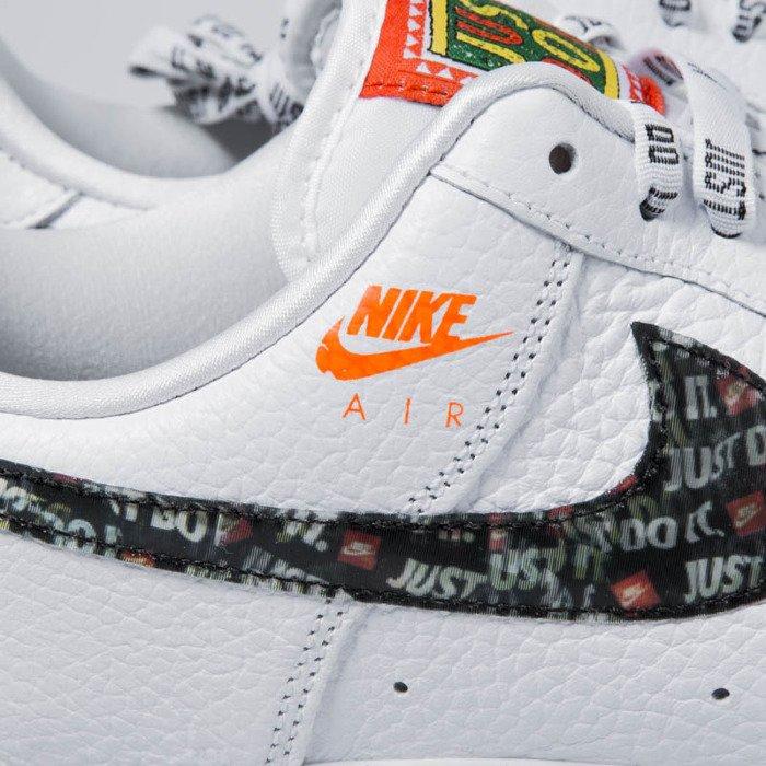 sports shoes 1dfb7 4e5f3 Sneakers buty Nike Air Force 1  07 PRM JDI white-black-total orange ...