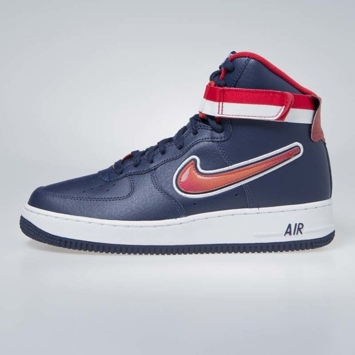 hot sales 761ee b3944 ... Sneakers buty Nike Air Force 1 High '07 LV8 Sport midnight  navy/university red ...