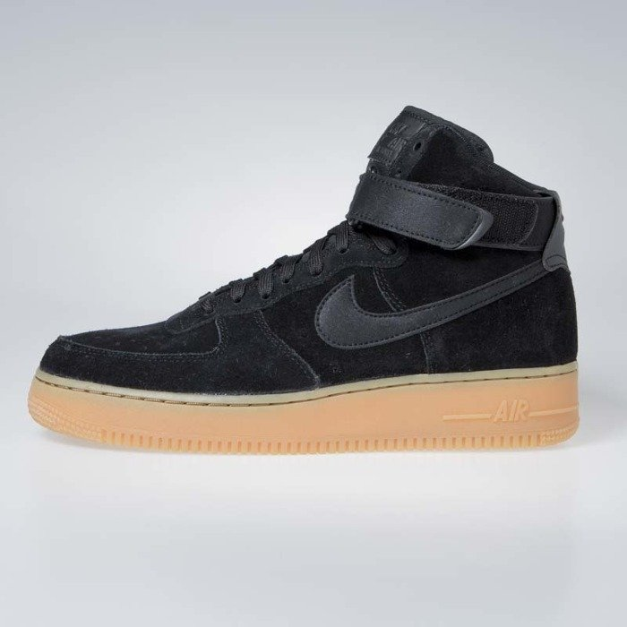 official photos 2db63 6dd4b ... Sneakers buty Nike Air Force 1 High '07 LV8 Suede black / black-gum ...
