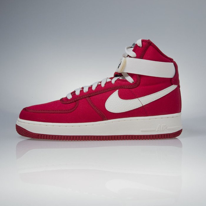 new arrival ef8b3 fce52 ... Sneakers buty Nike Air Force 1 High Retro gym red  sail-black (832747  ...