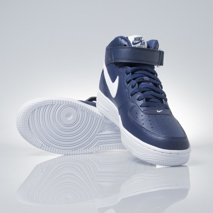 quality design b86f8 77a80 ... Sneakers buty Nike Air Force 1 Mid 07 midnight navy (315123-407) ...