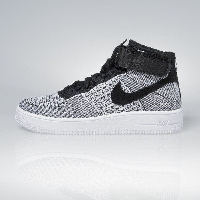 Sneakers buty Nike Air Force 1 Ultra Flyknit Mid black black white 817420 005