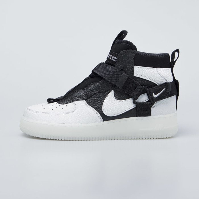 Sneakers buty Nike Air Force 1 Utility Mid off whiteblack white (AQ9758 100)