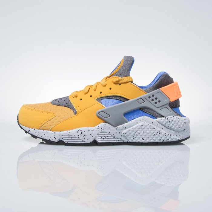 ... Sneakers buty Nike Air Huarache Run SE gold lf / hyper cobalth-hyper  cobalth- ...