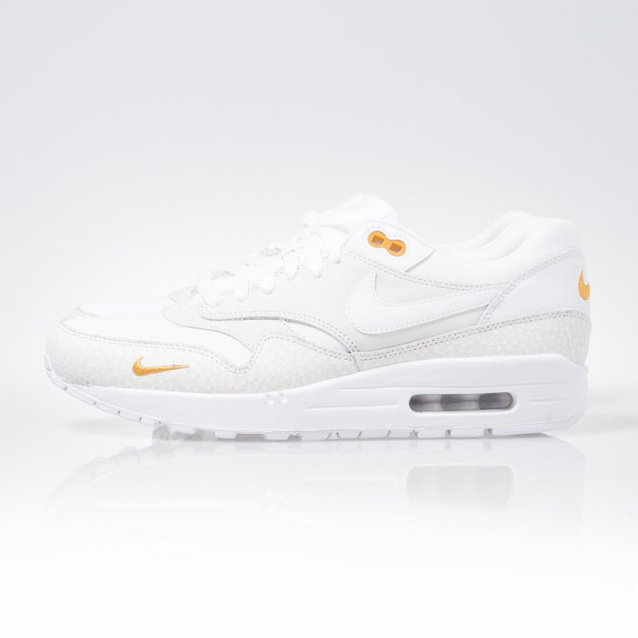 Sneakers buty Nike Air Max 1 PRM white white kumquat (512033 110)