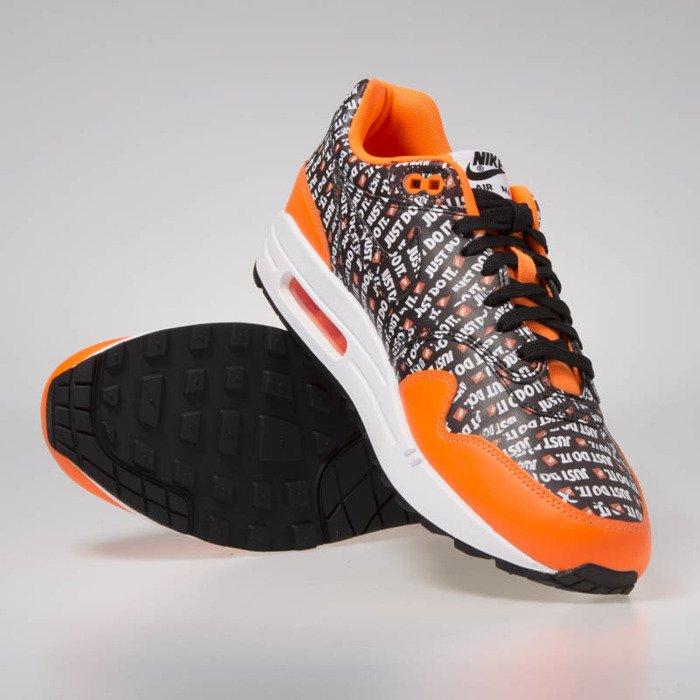 22c7b0b9a Sneakers buty Nike Air Max 1 Premium black/black-total orange-white ...