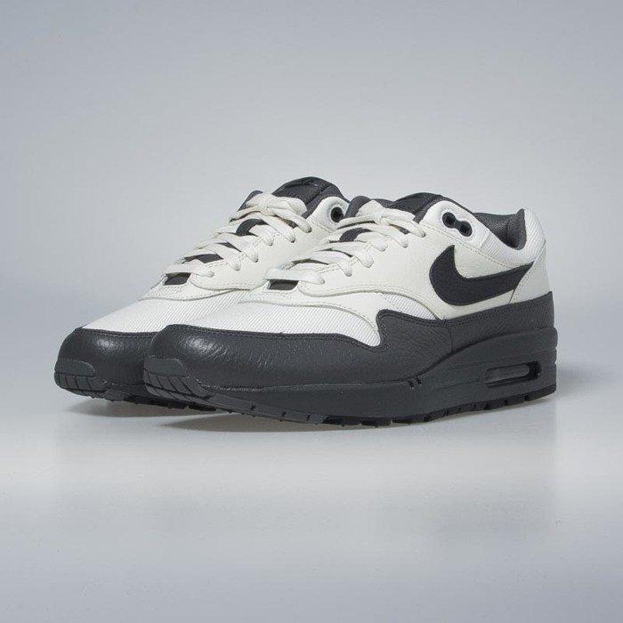 Sneakers buty Nike Air Max 1 Premium sail dark obsidian dark grey 875844 100