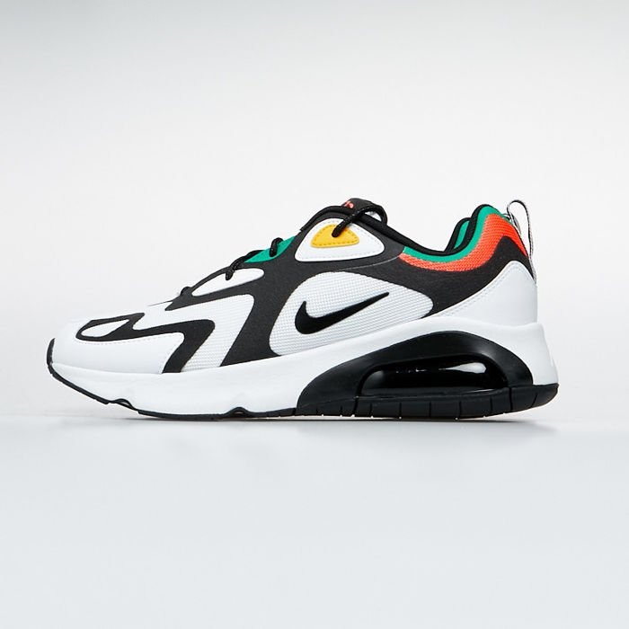 Sneakers buty Nike Air Max 200 whiteblack bright crimson (AQ2568 101)
