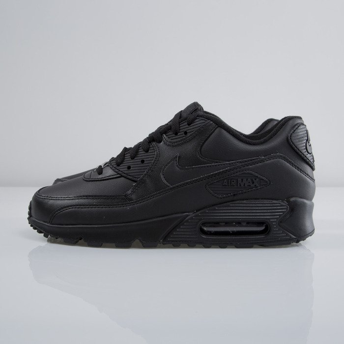 reduced buty nike air max 90 leather black 6f571 74d74
