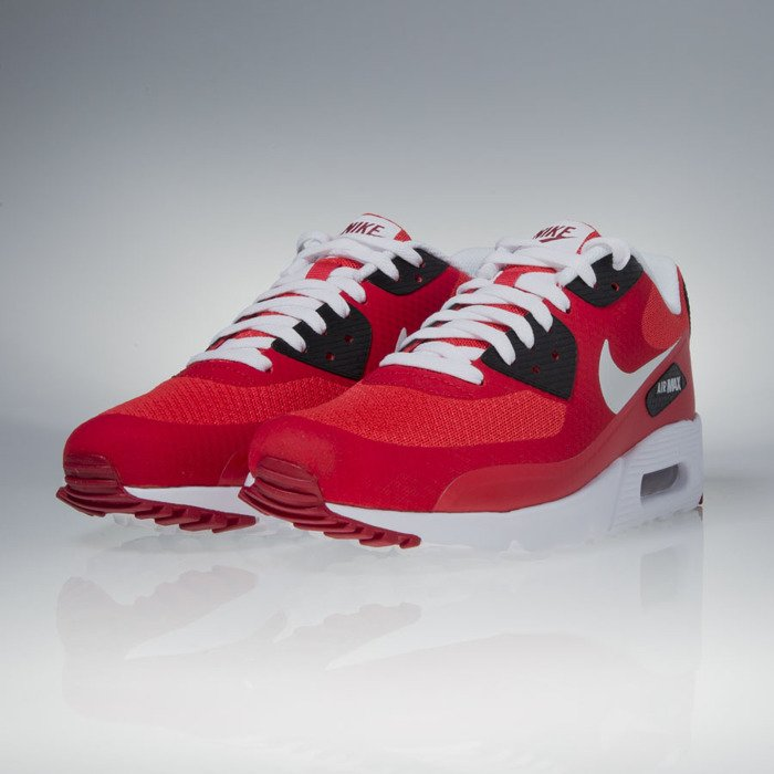 Sneakers buty Nike Air Max 90 Ultra Essential action red pure platinum (819474 600)