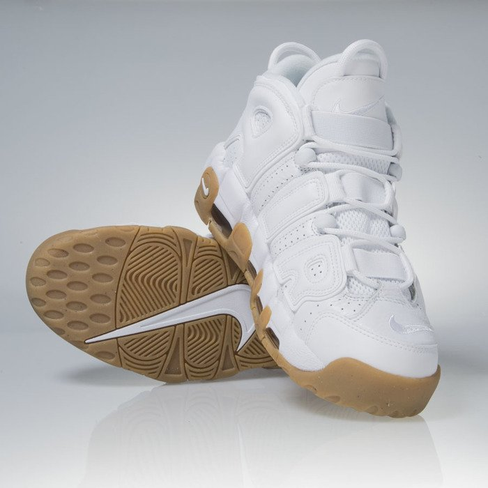 save off 65bc7 d8202 ... Sneakers buty Nike Air More Uptempo white  white  light brown (414962- 103 ...