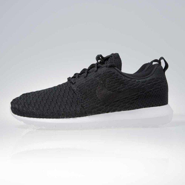 new concept e82fd 087c2 ... Sneakers buty Nike Roshe Nm Flyknit black / black-white (677243-011) ...
