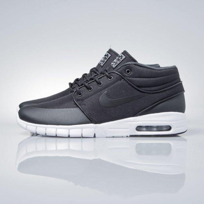62f2637bf4cd ... Sneakers buty Nike SB Stefan Janoski Max Mid black   black-metalic  silver (807507 ...
