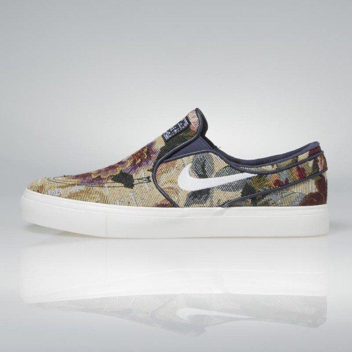 Sneakers buty Nike SB Zoom Stefan Janoski Slip Canvas Premium multicolor white ivory 902365 914