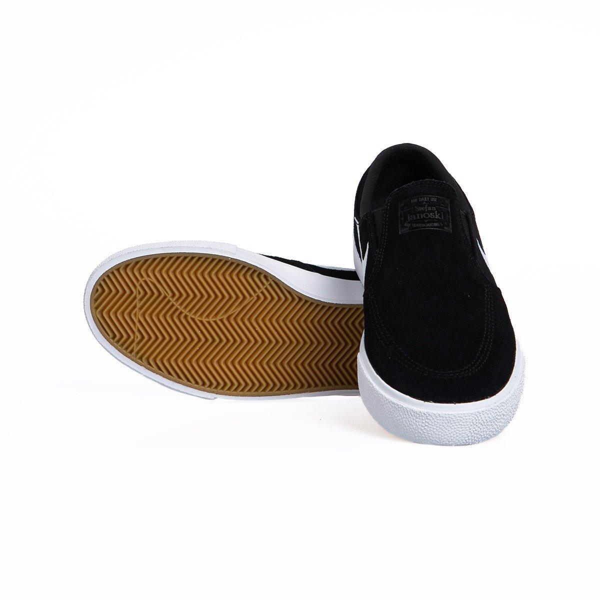 Sneakers buty Nike SB Zoom Stefan Janoski Slip RM blackwhite white (AT8899 002)