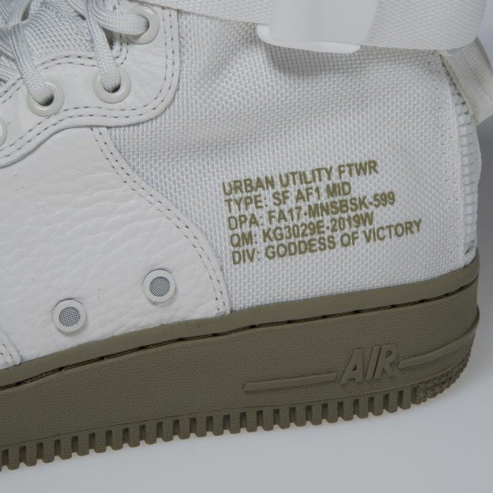 Sneakers buty Nike SF Air Force 1 Mid ivory ivory neutral olive 917753 101