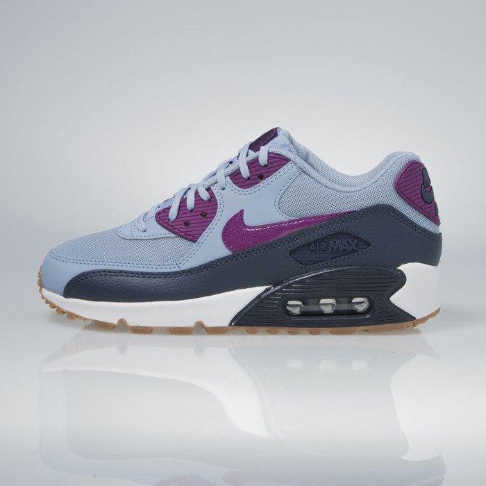 best cheap ce467 45fec ... Sneakers buty Nike WMNS Air Max 90 Essential blue grey  bright grape  616730-403 ...