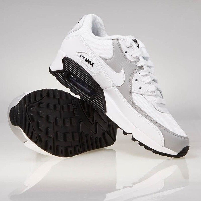 87725c7653f0 ... Sneakers buty Nike WMNS Air Max 90 white   white-wolf grey-black 325213  ...