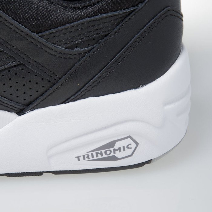 Sneakers buty Puma R698 Core Leather black black drizzle (360601 02)