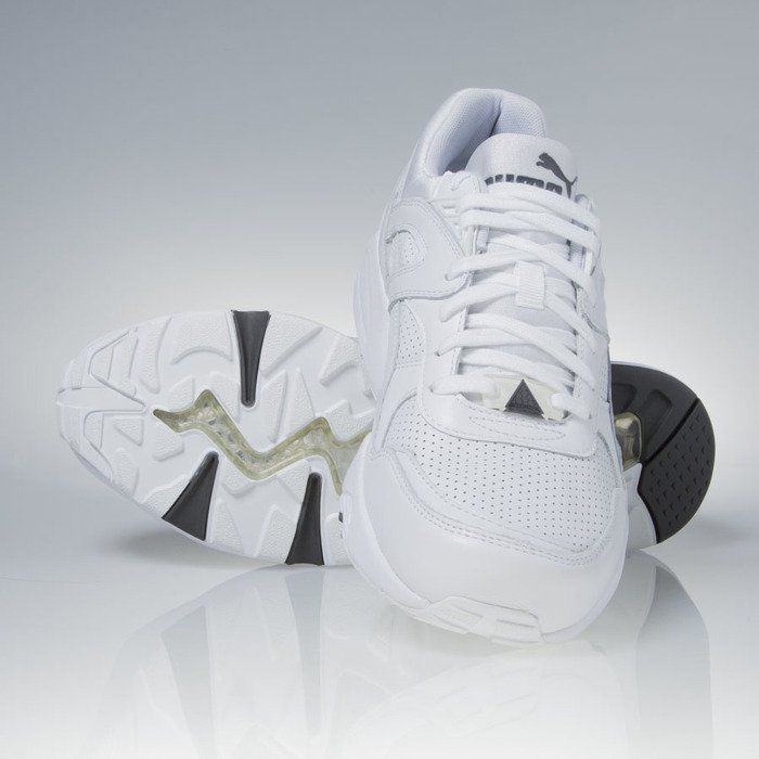 a7be02bb725 ... Sneakers buty Puma R698 Core Leather white   steel gray (360601-01) ...