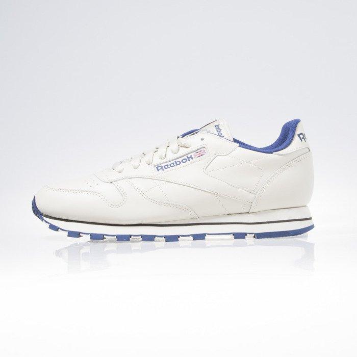 Sneakers buty Reebok CL Leather ecru navy (28412)