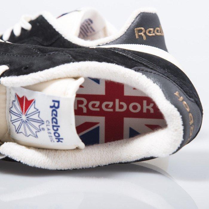 6b458a74dad Sneakers buty Reebok Classic CL Leather Clean UJ black   chalk (V67817) ...
