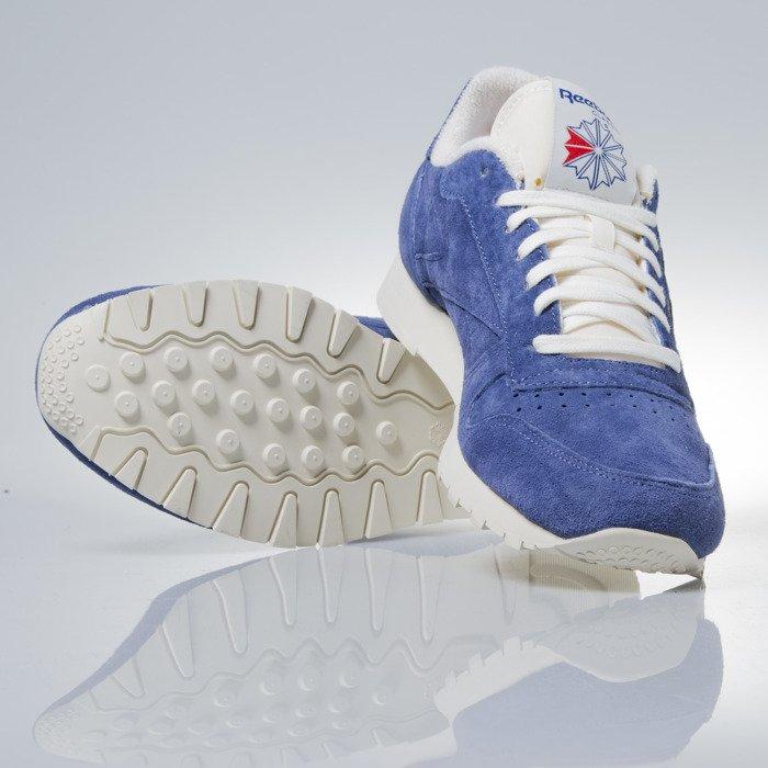2700e0501fc ... Sneakers buty Reebok Classic CL Leather Clean UJ midnight blue   chalk  (V67818) ...