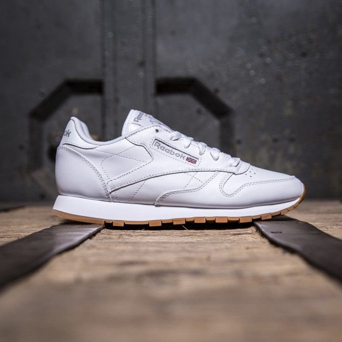 945df0140a0 ... Sneakers buty Reebok Classic Leather WMNS White   Gum (49803) ...