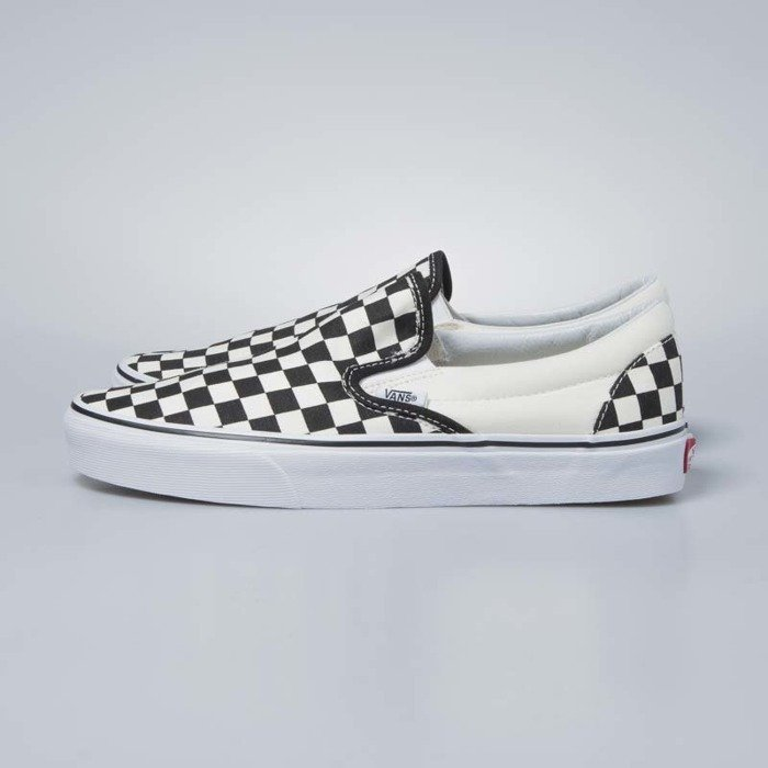 Sneakers buty Vans Classic Slip On black and white checkerboard white VN000EYEBWW