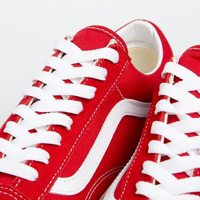 Sneakers buty Vans Old Skool racing redtrue white (VN0A4BV5JV61)