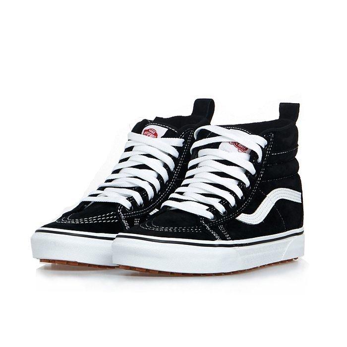 Sneakers buty Vans SK8 Hi Mte blacktrue white (VN0A4BV7DX61)