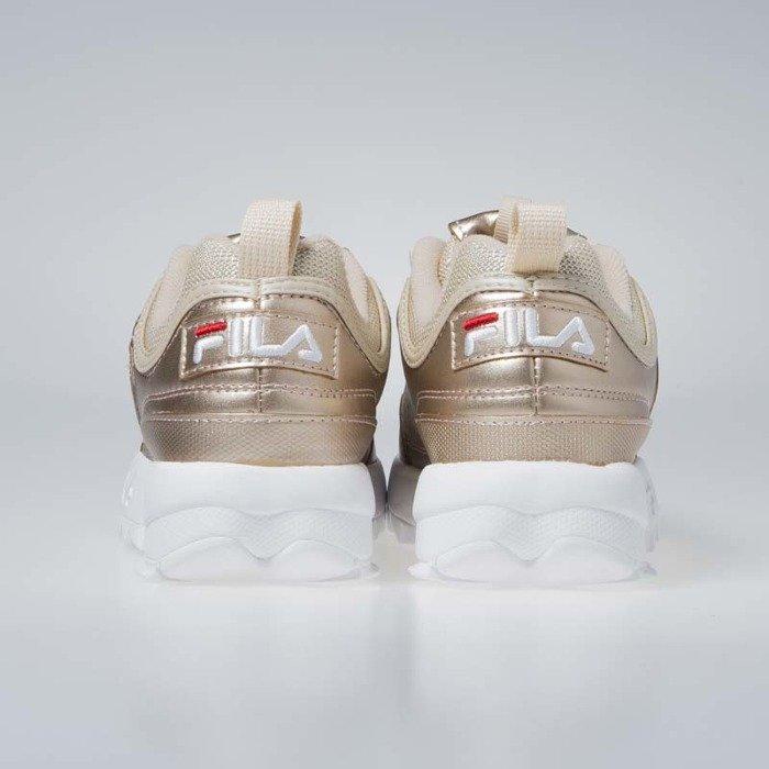 Sneakers buty damskie FILA Disruptor Low WMNS gold