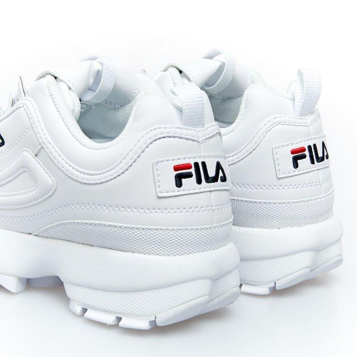 Sneakers buty damskie FILA Disruptor Low WMNS white (1010302.1FG)