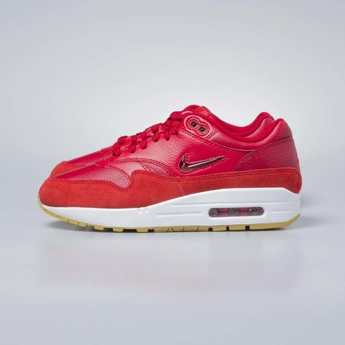Sneakers buty damskie Nike Air Max 1 Premium SC gym red gym red speed red AA0512 602