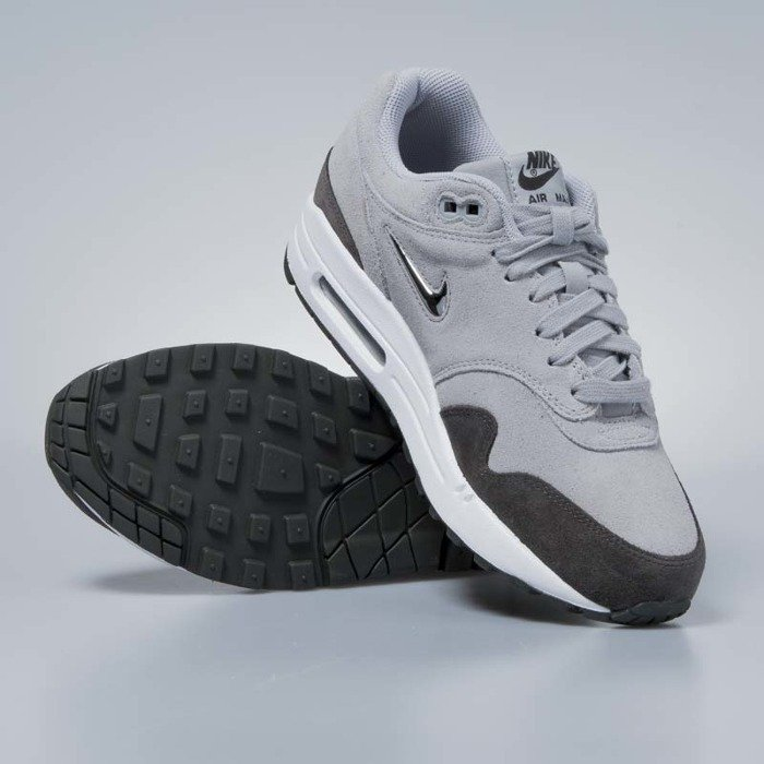 3bc928f610a ... Sneakers buty damskie Nike Air Max 1 Premium SC wolf grey   deep pewter    white ...