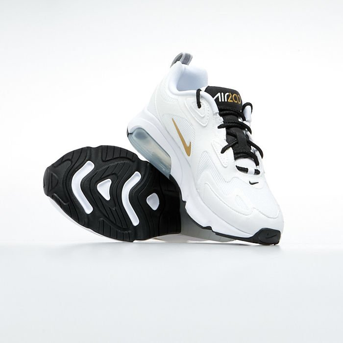 Sneakers buty damskie Nike Air Max 200 whitemetallic gold black (AT6175 102)