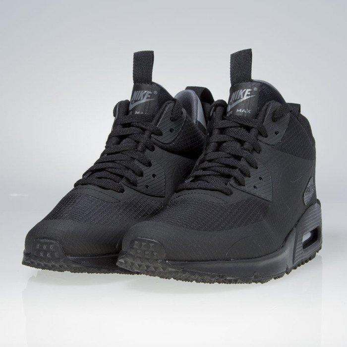 Sneakers buty zimowe Nike Air Max 90 Mid Winter black 806808 002
