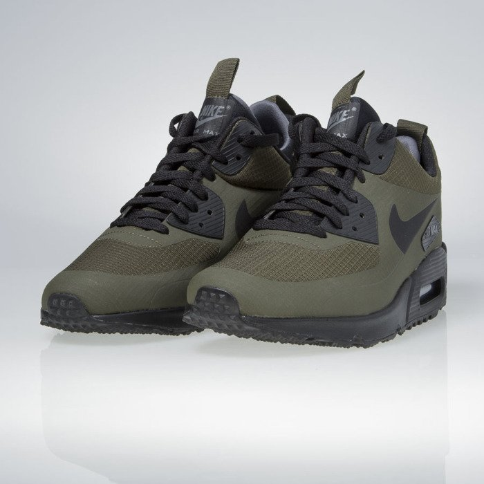Sneakers buty zimowe Nike Air Max 90 Mid Winter dark loden black dark grey 806808 300