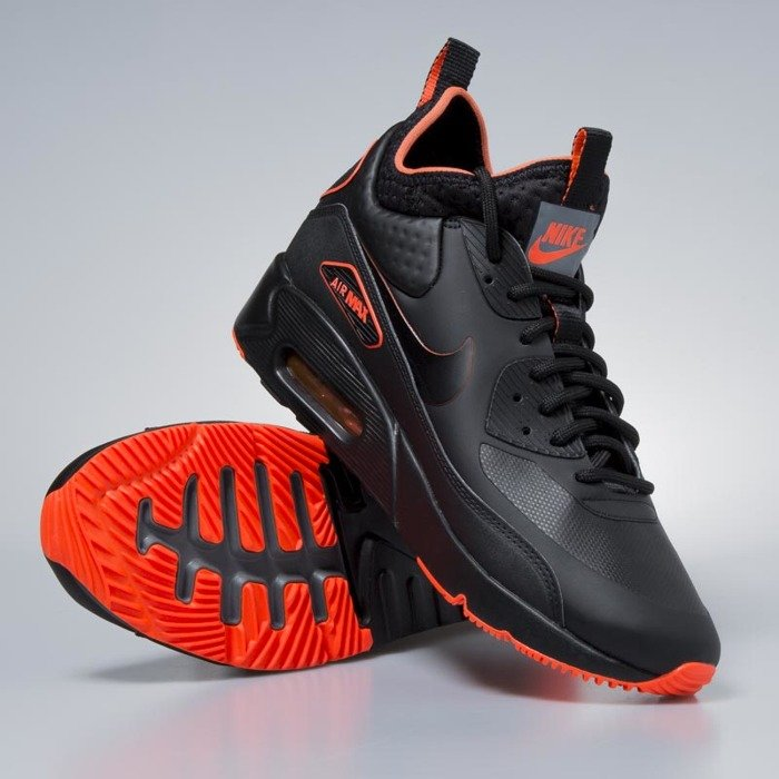 Sneakers buty zimowe Nike Air Max 90 Ultra Mid Winter SE black black total crimson AA4423 001