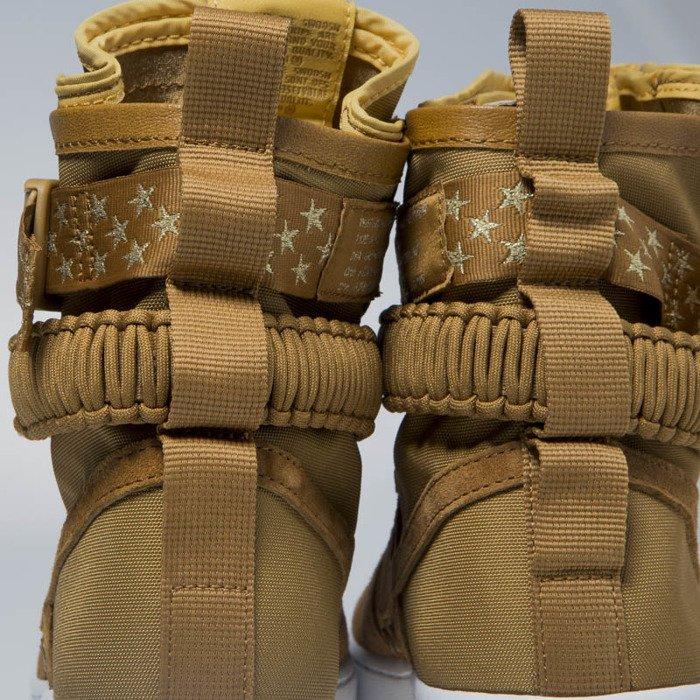 Sneakers buty zimowe WMNS Nike SF AF1 muted bronze (857872 203)