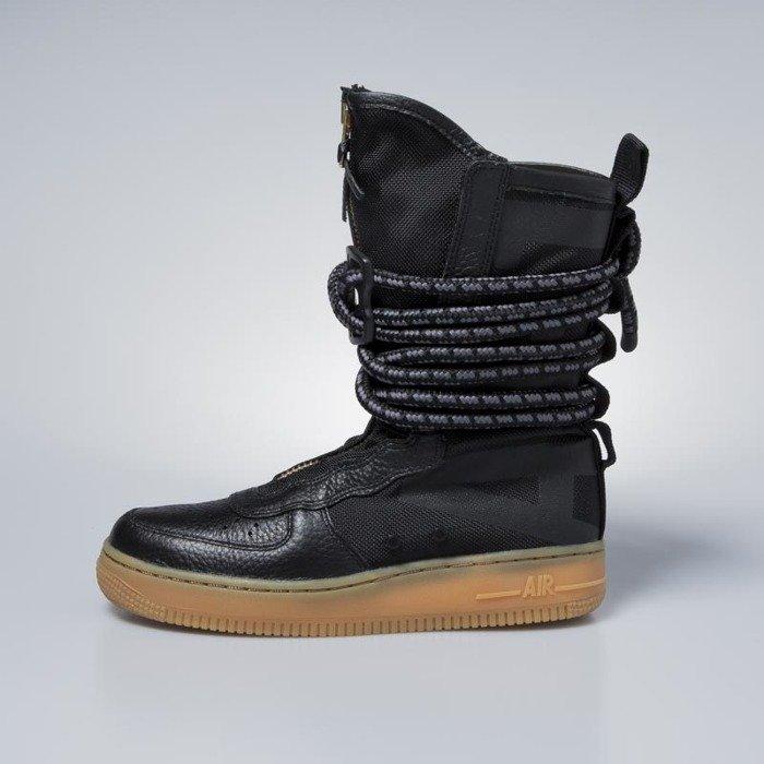Sneakers buty zimowe damskie Nike SF AF1 High black black
