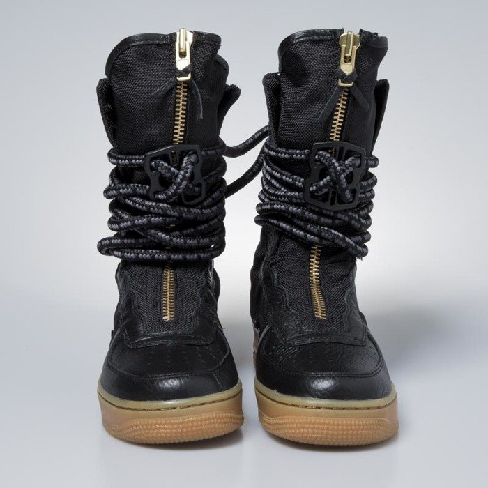 the best attitude 7840d 99c18 ... Sneakers buty zimowe damskie Nike SF AF1 High black  black-gum light  brown AA3965 ...