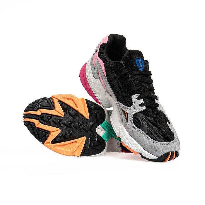 Sneakers damskie buty Adidas Originals Falcon W core blackcore blacklight granite (BB9173)